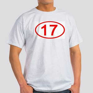 Number 17 Oval Ash Grey T-Shirt