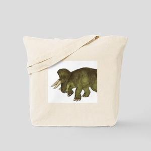 Green Triceratops Dinosaur Tote Bag