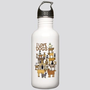 I LOVE DOGS Water Bottle