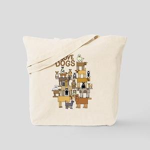 I LOVE DOGS Tote Bag