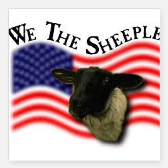 "We the Sheeple Square Car Magnet 3"" x 3"""
