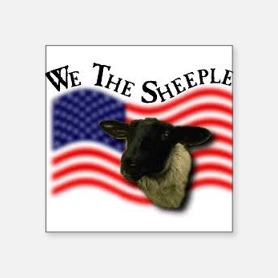 We the Sheeple Sticker