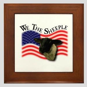 We the Sheeple Framed Tile