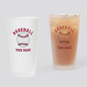Personalized Name Baseball Drinking Glass