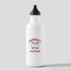 Personalized Name Baseball Sports Water Bottle