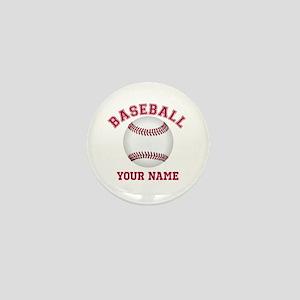 Personalized Name Baseball Mini Button