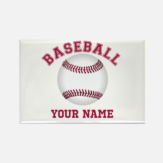Personalized Name Baseball Rectangle Magnet