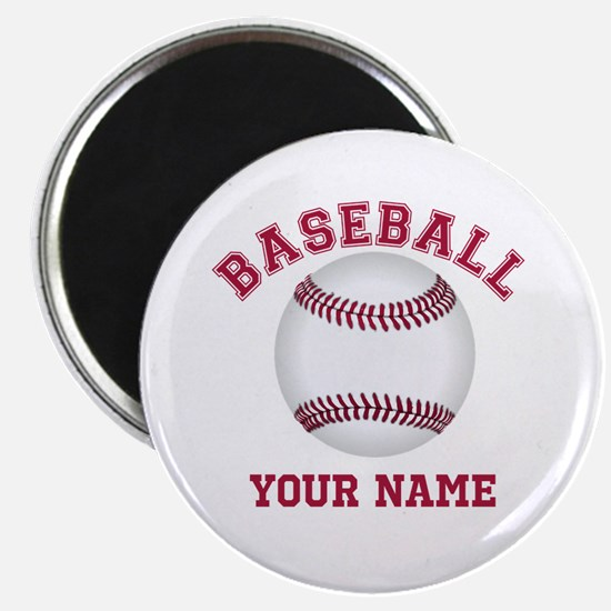 "Personalized Name Baseball 2.25"" Magnet (100 pack)"