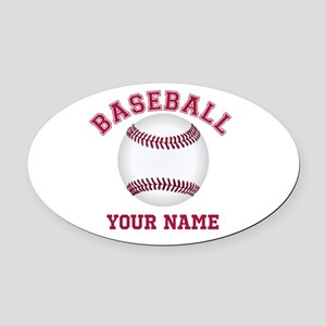 Personalized Name Baseball Oval Car Magnet