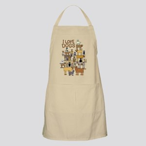 I LOVE DOGS Apron