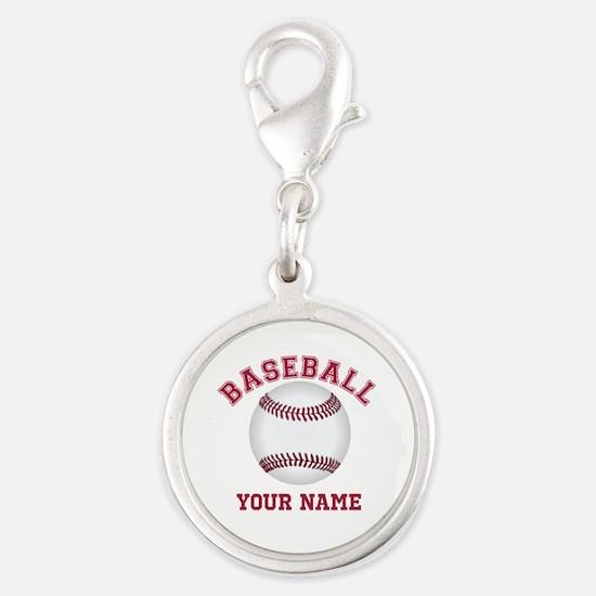 Personalized Name Baseball Charms