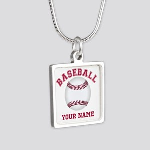 Personalized Name Baseball Necklaces