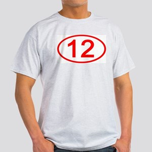 Number 12 Oval Ash Grey T-Shirt