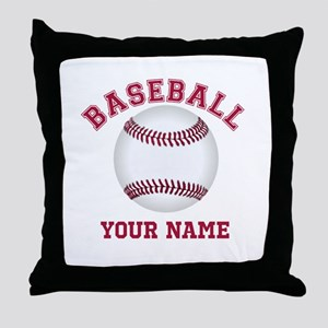 Personalized Name Baseball Throw Pillow
