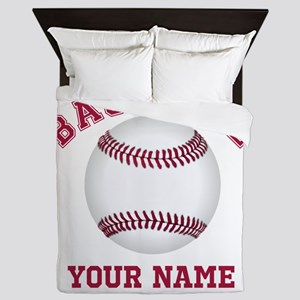 Personalized Name Baseball Queen Duvet