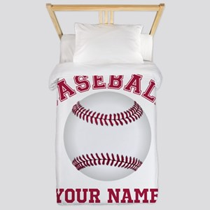 Personalized Name Baseball Twin Duvet