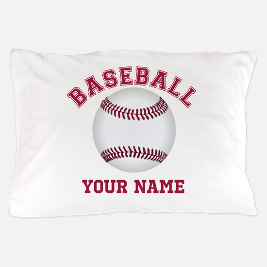 Personalized Name Baseball Pillow Case