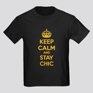 Keep calm and stay chic Kids Dark T-Shirt