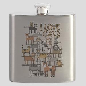 I LOVE CATS Flask