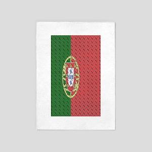 Portugal Flag 3 by 5 rug 5'x7'Area Rug