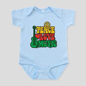 Reggae Peace Love Music Body Suit