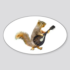 Squirrel Mandolin Sticker