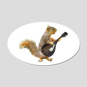 Squirrel Mandolin Wall Decal