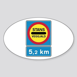 Toll road - Iceland Oval Sticker