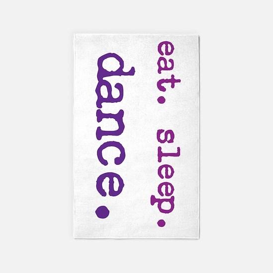 eat.sleep.dance. 3'x5' Area Rug