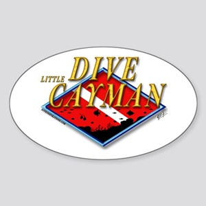 Dive Little Cayman Oval Sticker