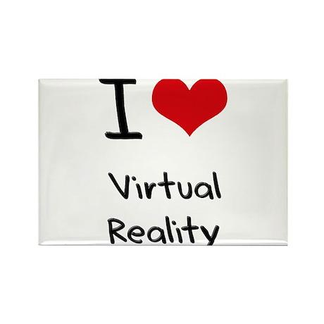 I love Virtual Reality Rectangle Magnet