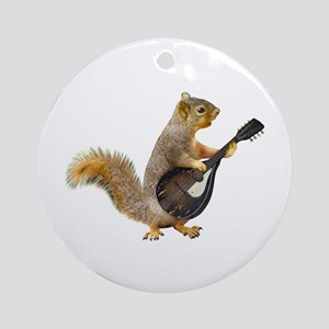 Squirrel Mandolin Round Ornament