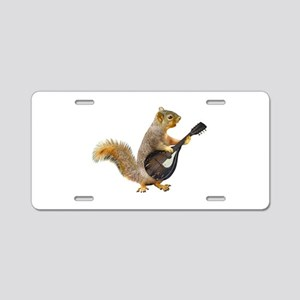 Squirrel Mandolin Aluminum License Plate