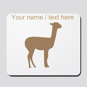 Personalized Brown Llama Silhouette Mousepad