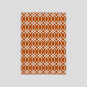 Spice Orange Ogee Pattern 5'x7'Area Rug