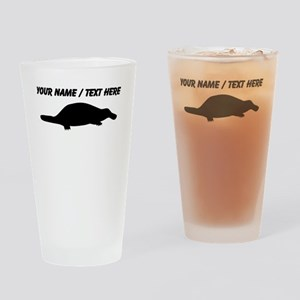 Personalized Black Platypus Silhouette Drinking Gl