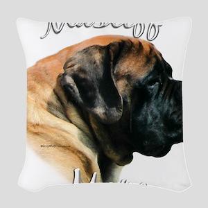 MastiffapricotMom Woven Throw Pillow