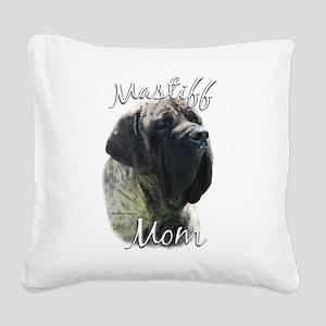 MastiffbrindleMom Square Canvas Pillow