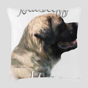 MastifffluffyMom Woven Throw Pillow