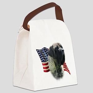 MastiffbrindleFlag Canvas Lunch Bag