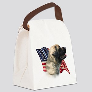 MastifffluffyFlag Canvas Lunch Bag
