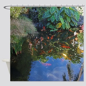 Koi Pond in Paradise Tropical Shower Curtain