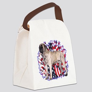 MastiffbrindlePatriot Canvas Lunch Bag