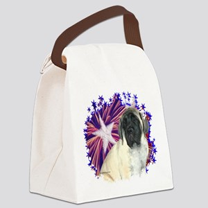 MastiffpupfawnPatriot Canvas Lunch Bag