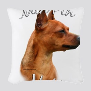 MiniPinrustMom Woven Throw Pillow