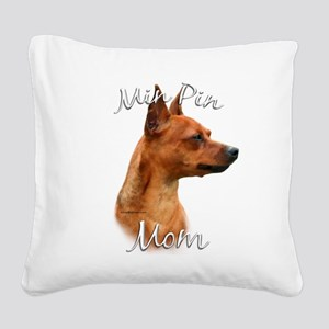 MiniPinrustMom Square Canvas Pillow
