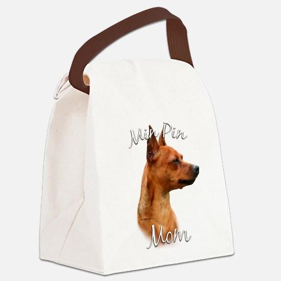 MiniPinrustMom.png Canvas Lunch Bag