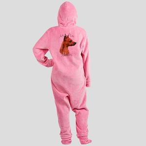 MiniPinrustMom Footed Pajamas