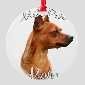 MiniPinrustMom Round Ornament