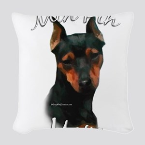 MiniPinblackMom Woven Throw Pillow
